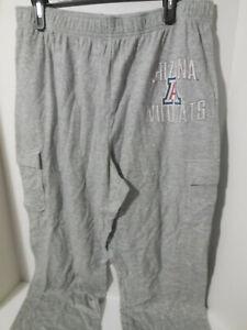 New Mens Arizona Wildcats Sweat Cargo Loose Printed Pants Grey Size Large NCAA