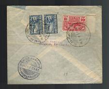 1939 Bangkok Thailand Censored Cover to England Thai Rice Company