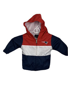 Youth Baby NFL New England Patriots Full-Zip Hooded Jacket Size 12 Months