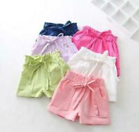 1 pc kids girls summer clothed cute ruffle Bottoms summer cotton short pants