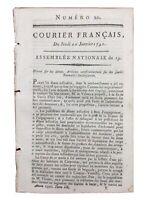Strasbourg en 1791 Alsace Luthérien Mouchy le Chatel Rouen Carpentras Revolution