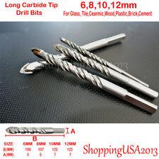 4 Pcs Drill Bit Set 6-12mm Carbide Tip Brick, Tile, glass, tile, ceramic