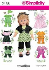 "Simplicity 2458 Sewing Pattern 18"" DOLL American Girl Summer Clothing 7 Outfits"
