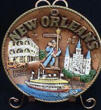 """New Orleans La vintage souvenir plate Japan 8"""" French Quarter Bourbon Street"""