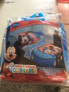 Disney Baby Mickey Mouse Clubhouse Toddler Bedding Set Captain Mickey New