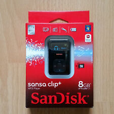 Sandisk Sansa Clip + Black 8GB Digital Media Player Nuevo Y En Caja + + rare + +