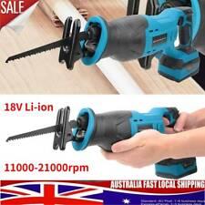 Cordless Reciprocating Saw Electric Handheld 18V Lithium Sabre Saw Tool AU Stock