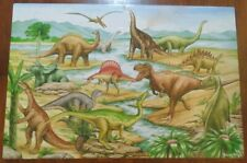 Melissa & Doug DINOSAURS 48 pieces Floor Puzzle in EUC. 100% complete.