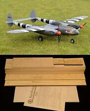 """74"""" wingspan P-38 Lightning R/c Plane short kit/semi kit and plans"""