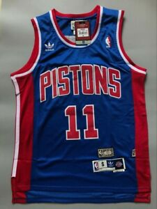Men's Detroit Pistons Isiah Thomas Blue Throwback Swingman Jersey Size S-XXL