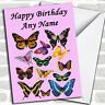 Various Butterfly's Personalized Birthday Card