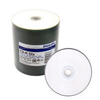 500 PHILIPS Blank 52x CD-R White Inkjet Printable Disc
