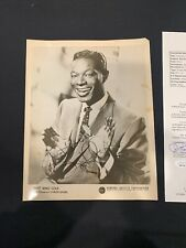 Nat King Cole Autograph 8x10 JSA LOA