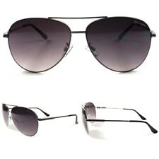 Slick Design Fashion High-End Sexy Mens Womens Air Force Style Silver Sunglasses