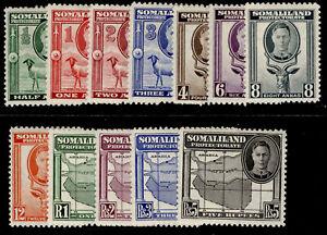 SOMALILAND PROTECTORATE GVI SG105-116, complete set, M MINT. Cat £50.