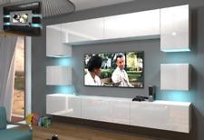 Moderne Wohnwand Schrankwand Hochglanz Wohnzimmer NEXT 1 inkl.LED