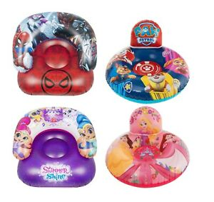 Kids Spiderman,Paw Patrol,Princess,Shimmer&Shine Round Inflatable Chair Gift 3+y