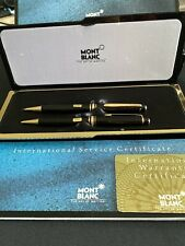 Montblanc Meisterstuck Black Ballpoint Pen & 0.7mm Pencil Set New In Box
