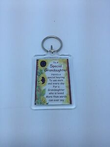 TO A SPECIAL GRANDAUGHTER  Keyring - Family Gift Present Idea