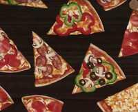 Pizza  food Timeless Treasures fabric