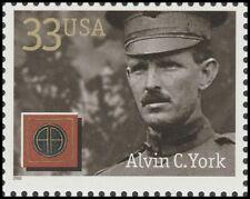 US 3395 Distinguished Soldiers Alvin C York 33c single (1 stamp) MNH 2000