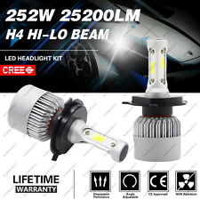 H4 252W 25200LM CREE LED Headlight Kit Hi/Low Beam Bulb White 6000K Power US