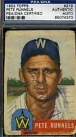Pete Runnels Signed Psa/dna 1953 Topps Autograph Authentic