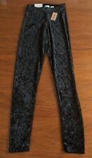 NWT MUDD Junior Size S Solid Black Crushed Velvet Stretch Skinny Leggings