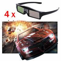 4X Active Shutter 3D Glasses for DLP-LINK 3D Projector Sony BenQ Samsung