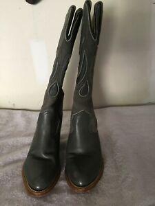 Frye gray cowboy boots.  Size 5 1/2