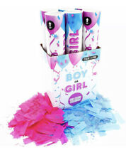 3blue+3pink Tur Party Supplies Baby Gender Reveal Powder & Confetti Popper 12