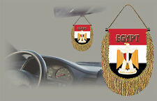 EGYPT REAR VIEW MIRROR WORLD FLAG CAR BANNER PENNANT