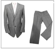 """Burton Performance Washable mens 2 piece suit Ch40""""R W34"""" L30"""" Grey Twill Wool"""