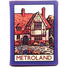 Travel Pass/Oyster Card Holder - Printed Leather  - 'Metroland'