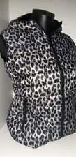 Giubbotto smanicato, Gilet con cappuccio senza maniche per donna, leopardato