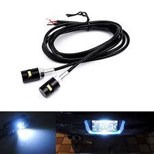 2 X Motorcycle Car Auto White LED Number License Plate Srew Bolt Light Bulb Lamp