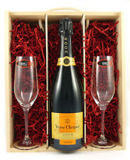 2008 Veuve Clicquot Vintage Champagne With Two Riedel Crystal Glasses