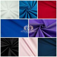 """Solid Poly Cotton Fabric Broadcloth 58""""/ 60""""Wide By The Yard (Choose the color)"""