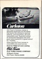 1975 Print Ad Old Town Carleton Canoes Made in Old Town,Maine