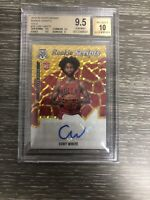2019-20 MOSAIC ROOKIE SCRIPTS COBY WHITE GOLD 21/25 AUTO BULLS BGS GEM MT 9.5/10