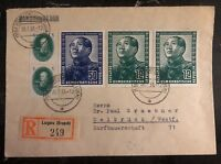 1951 Lugau East Germany DDR Cover to Delbruck Mao Tse Tung Stamps #82 & 84