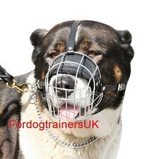 Caucasian Shepherd Dog Wire Muzzle | Large Dog Muzzle for Caucasian Shepherd