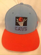 Cleveland Cavaliers Cavs 1990's Style Blue Orange HWC New Era Hat Cap 7 1/4 Kemp