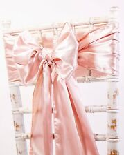 SATIN SASHES AND MATCHING TABLE RUNNERS  WEDDING DECOR 43 COLOURS AVAILABLE