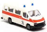 Praline Busch Ford Transit KTW MTW Krankentransporte Krankenwagen weiß 1:87 H0