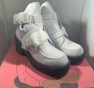 Jeffrey Campbell Shoes Coltrane White Black