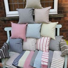 """SETS OF 4 Cushion Covers 16"""" x 16""""  GINGHAM  CHECKS choose any colour"""
