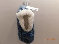 SONOMA Goods for Life Cable Knit Fuzzy Babba Ballerina Slippers Sz M/L NWT