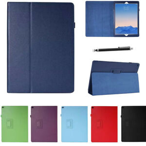Smart Case Litchi Leather Auto Sleep /Wake Up Stand Cover For Apple iPad Tablets