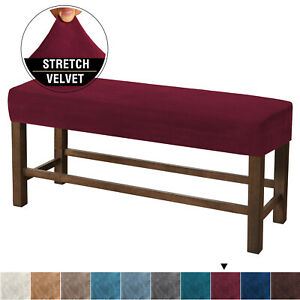 Velvet Bench Cover Sofa Chair Stretch Slipcover Dustproof Protective Cover I